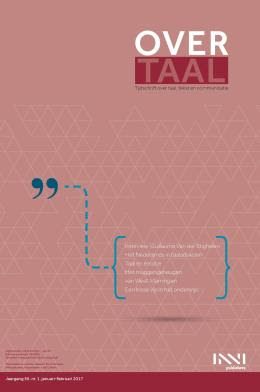 Cover tijdschrift Over Taal