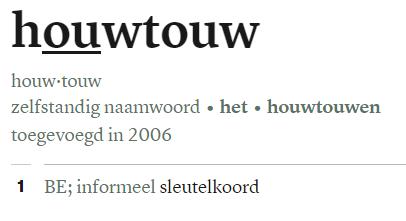 houwtouw in Van Dale