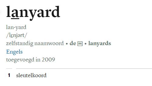 lanyard in Van Dale