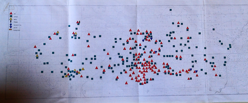 Kaart Balpen in 1972