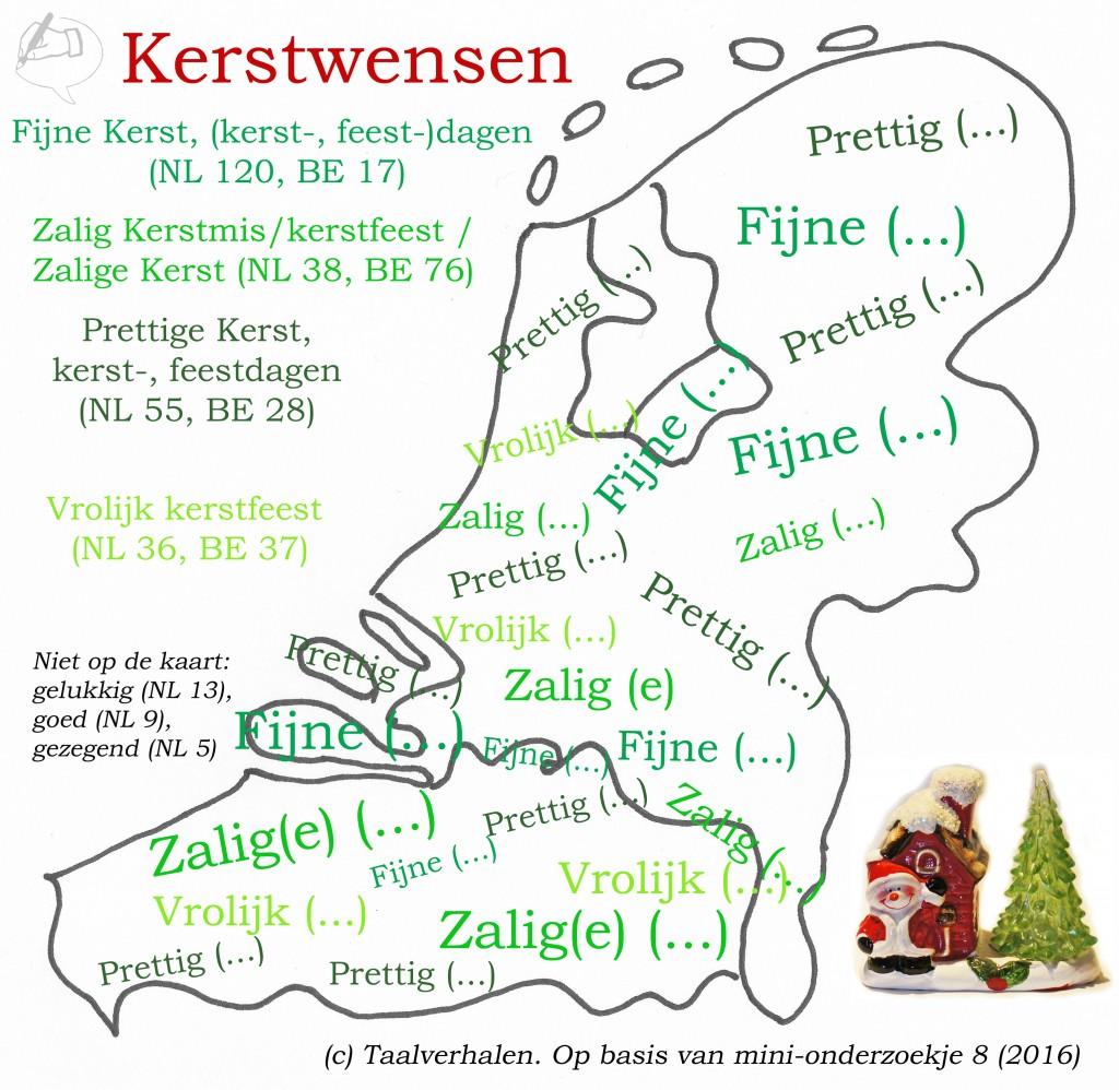 Taalkaart kerstwensen