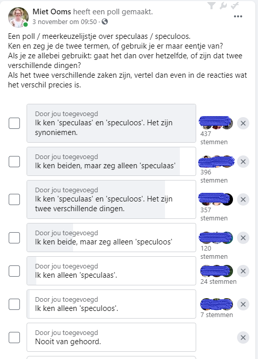 VRT Taal poll over speculaas en speculoos