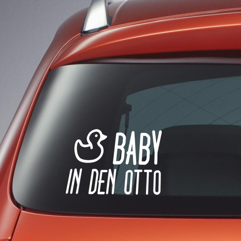 Autosticker: baby in den otto