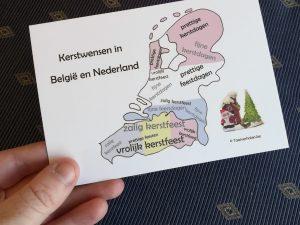Postkaart met kerstwensen
