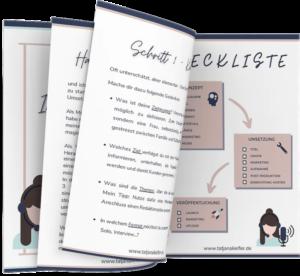 Guide Leitfaden Freebie Podcast tatjana Kiefler onzept Umsetzung veröffentlichung Launch