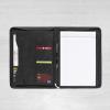 A4 Black leather conference folder