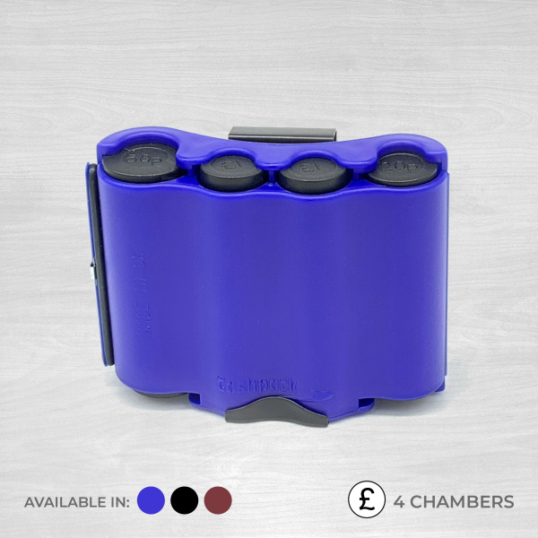 4 chamber coin dispenser blue