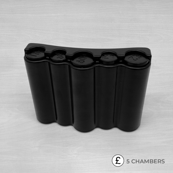 5 chamber coin dispenser front view