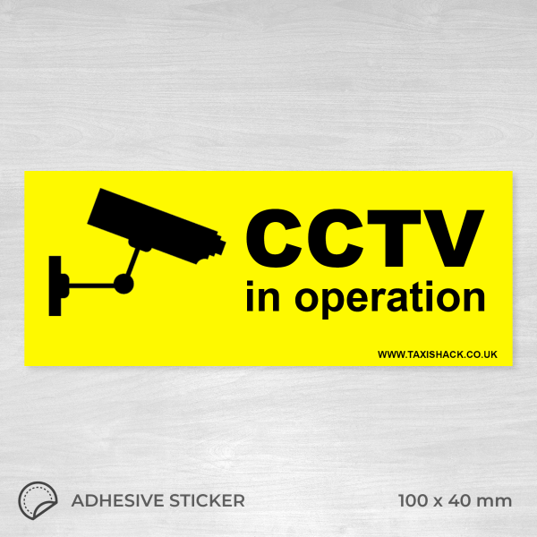 CCTV in operation sticker