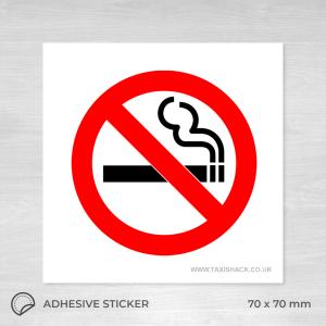 No Smoking icon sticker square