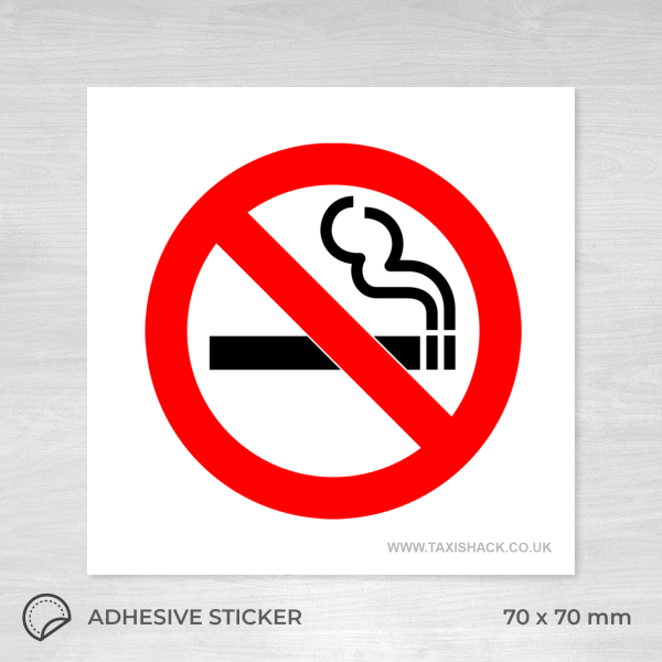 No Smoking icon sticker square