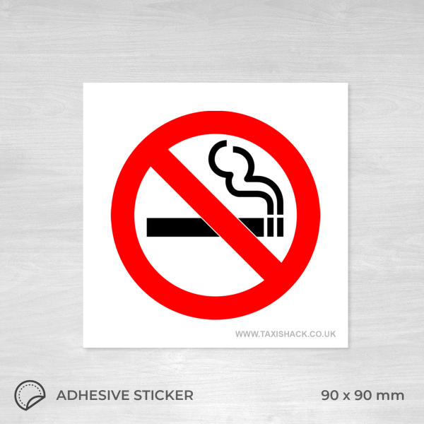 No Smoking square sticker
