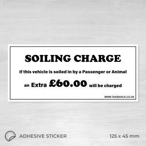 Soiling charge sticker