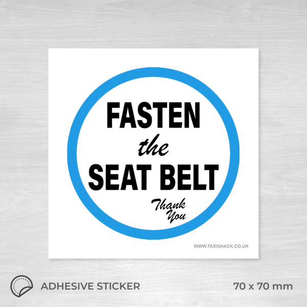 Fasten the seat belt sticker