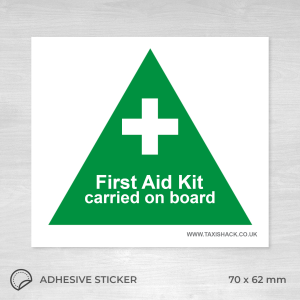 First aid kit on board sticker