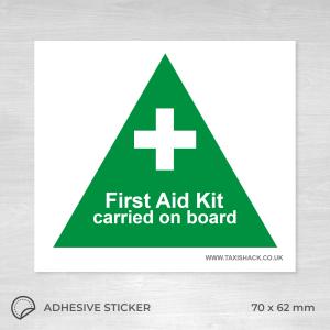 First aid kit on board sticker