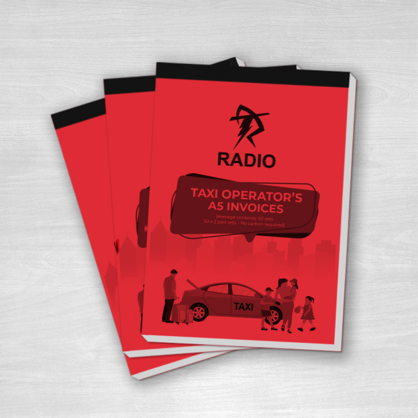 Taxi operators a5 invoices