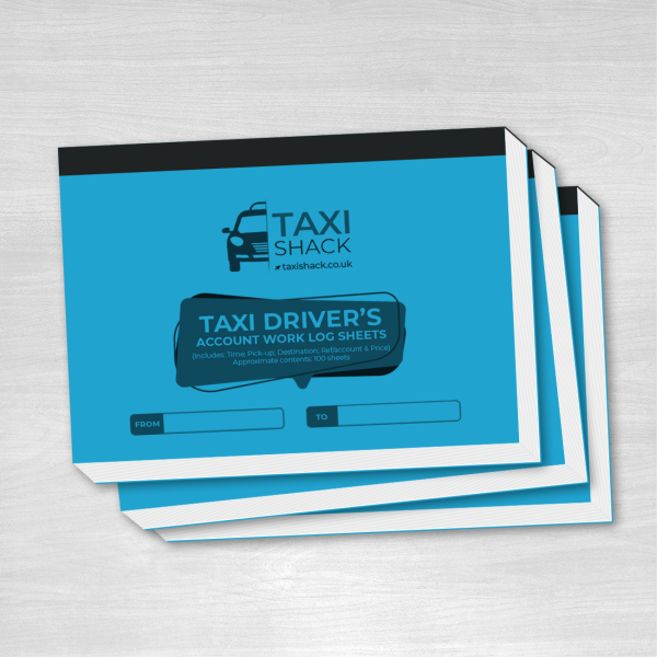Taxi Shack Taxi Drivers Account Work Log Sheets