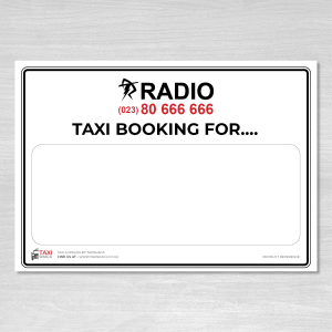 Radio Taxis Taxi Booking name board