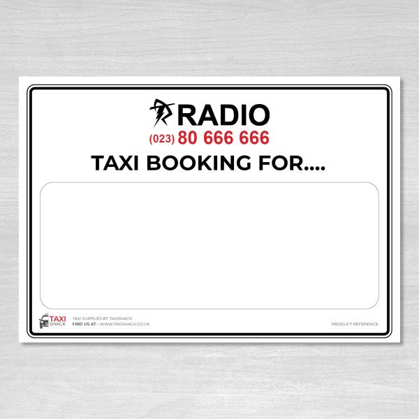 Radio Taxis Taxi Booking name board