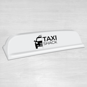 New standard 18 white taxi top sign