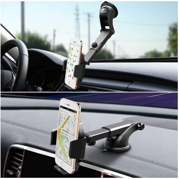 Mobile phone mount positioning