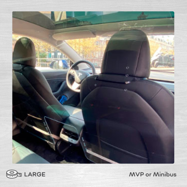 Large protective driver screen for MVP or Minibus
