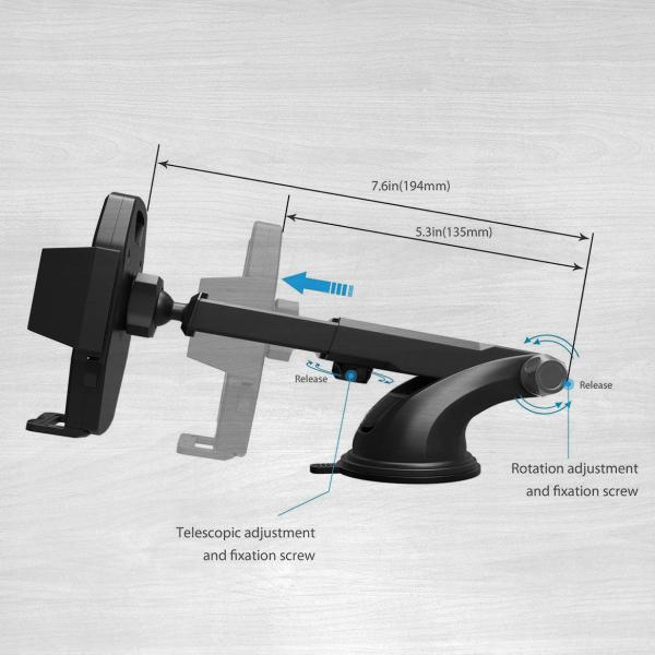 Adjustable phone mount