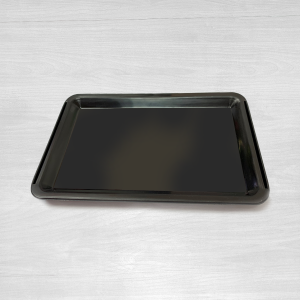Black plastic tip tray