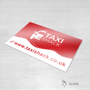 Gloss finish business card