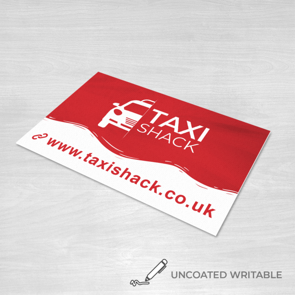 Uncoated writable business card