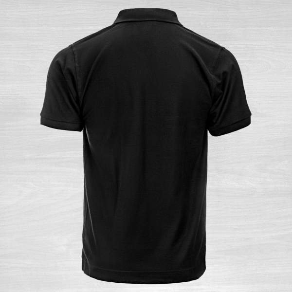 Black poloshirt back