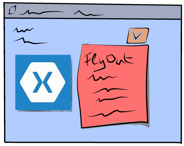 Flyout in Xamarin forms