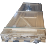 Horizontal stretch packaging item 15 - Complete wooden playhouse packed