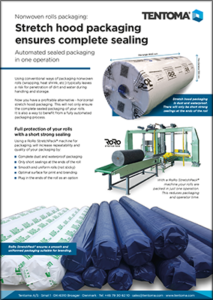Seal packaging of nonwoven rolls