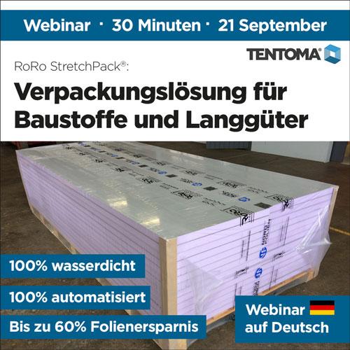 Webinar in German - Verpackungslösung für Baustoffe und Langgüter - September 2021