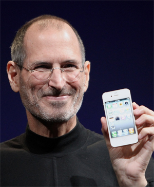 Steve Jobs and Shelly Palmer
