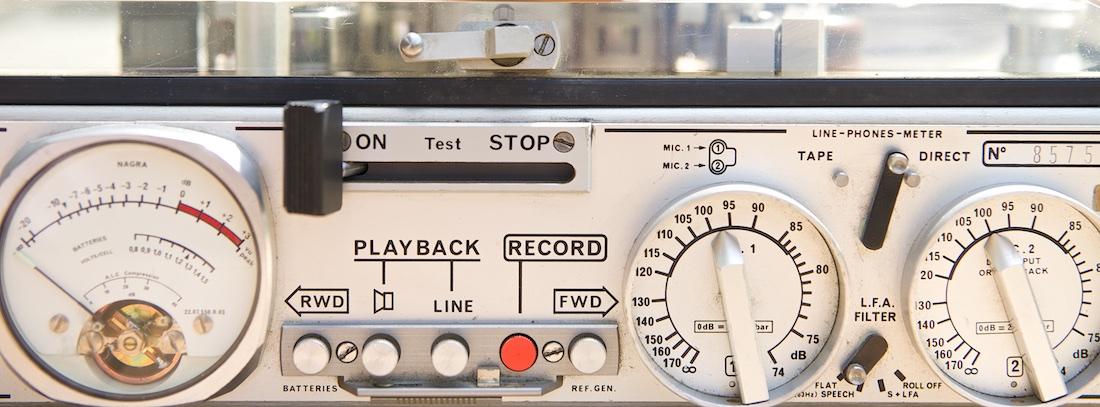Foto van een oude NAGRA recorder