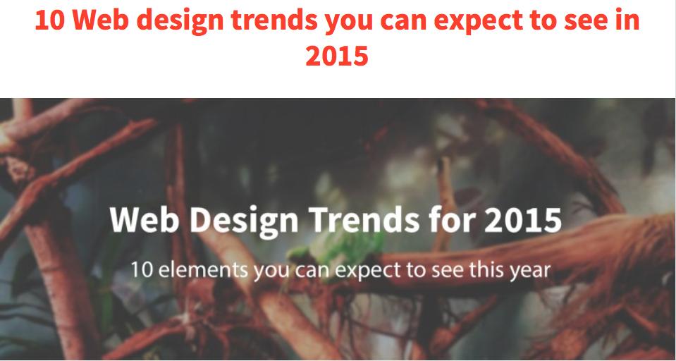 Artikel over de webtrends van 2015.