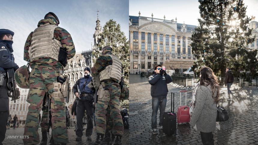 Jimmy Kets Fotojournalistiek Brussel lockdown
