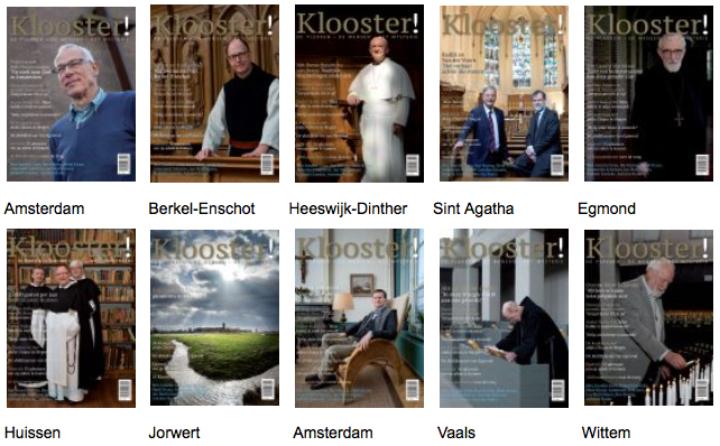 Tien covers van de glossy Klooster