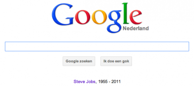Google frontpage