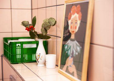 Elke b&b kamer heeft een eigen luxe badkamer