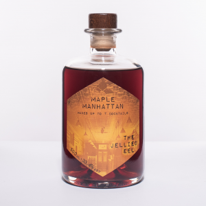 Glass Bottle of pre-mixed Maple Manhattan