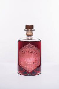A bottle of premixed cocktail Ruby Negroni