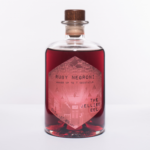 Glass Bottle of pre-mixed Negroni