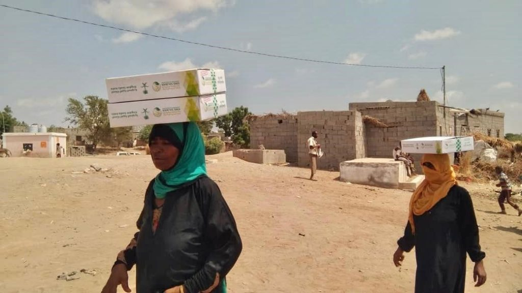 KSrelief Distributes Food and Shelter Aid in Yemen