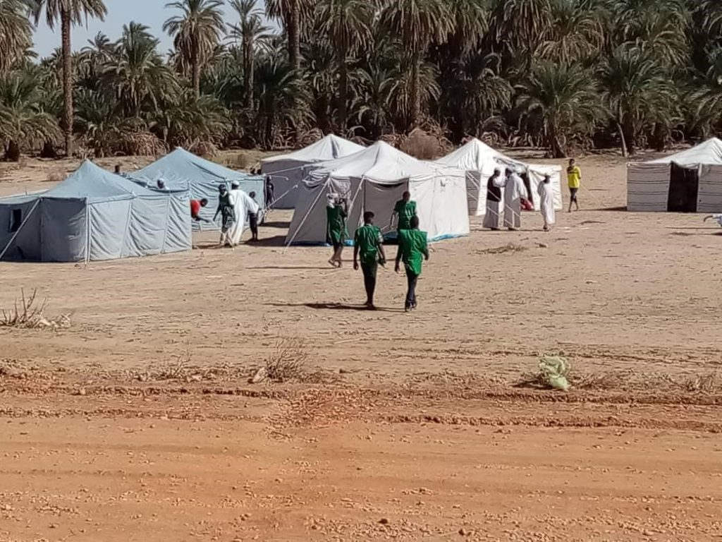 KSrelief Distribute Shelter Support to Flood Victims in Marwi, Sudan