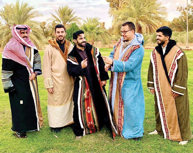 The traditional Bedouin coat is a Saudi's best friend in the cold December nights
