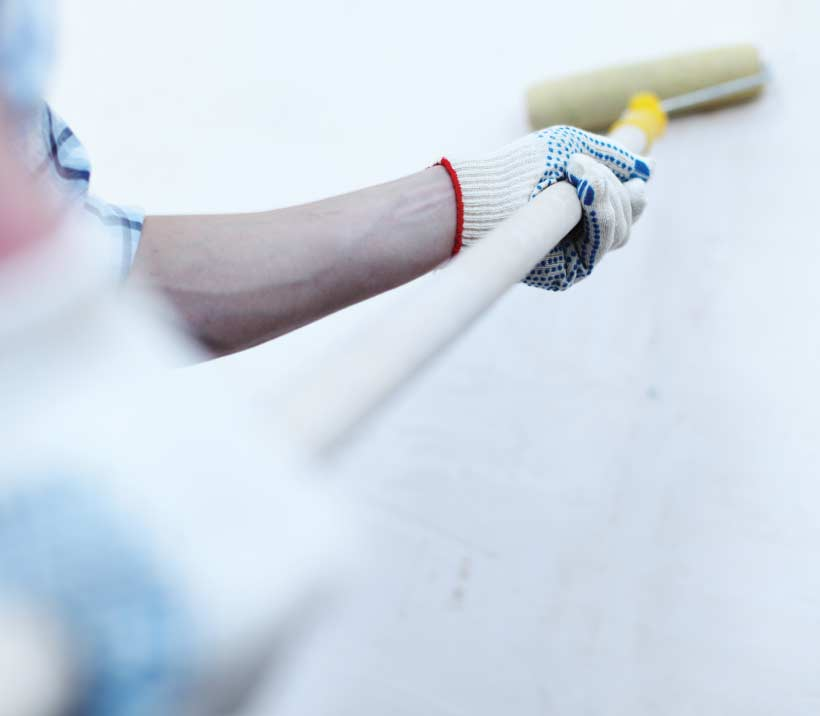 Painting with roller